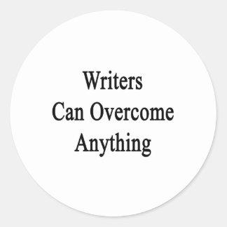 Los escritores pueden superar cualquier cosa pegatina redonda