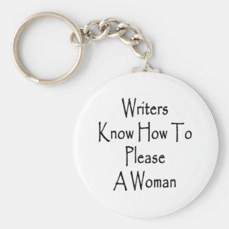 Los escritores saben satisfacer a una mujer llaveros personalizados