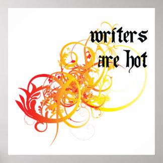 Los escritores son calientes poster