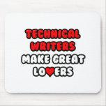 Los escritores técnicos hacen a grandes amantes tapetes de ratones