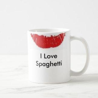 los espaguetis se besan, yo aman los espaguetis taza