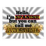 Los españoles, pero me llaman impresionante tarjetas postales