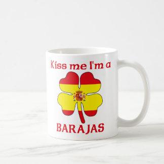 Los españoles personalizados me besan que soy Bara Taza Básica Blanca