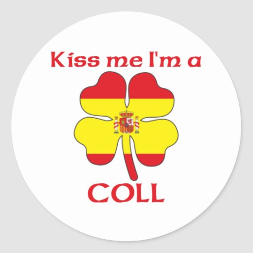 Los españoles personalizados me besan que soy Coll Etiqueta Redonda
