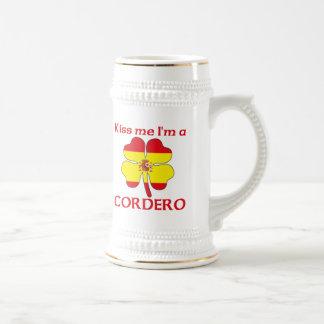 Los españoles personalizados me besan que soy Cord Tazas De Café