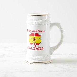Los españoles personalizados me besan que soy jarra de cerveza