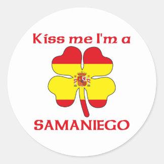 Los españoles personalizados me besan que soy etiquetas redondas