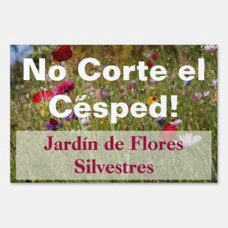 Los españoles rojos no siegan la muestra del jardí letreros