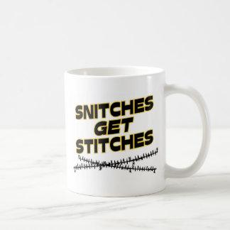 Los espías consiguen puntadas taza de café