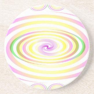 Los espirales abundan posavasos para bebidas
