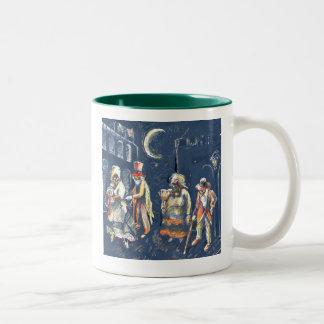 Los Espíritus del Tambor Two-Tone Coffee Mug