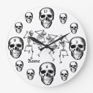 Los esqueletos del cráneo añaden el reloj moderno