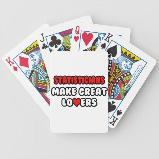 Los estadísticos hacen a grandes amantes barajas de cartas