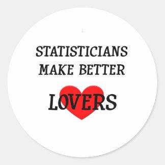 Los estadísticos hacen a mejores amantes pegatinas redondas