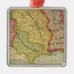 Los Estados Unidos de América, 1900 Adorno Navideño Cuadrado De Metal