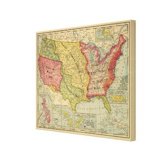 Los Estados Unidos de América, 1900 Impresión De Lienzo