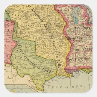 Los Estados Unidos de América, 1900 Pegatina Cuadrada