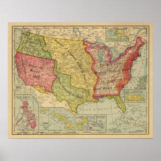Los Estados Unidos de América, 1900 Póster