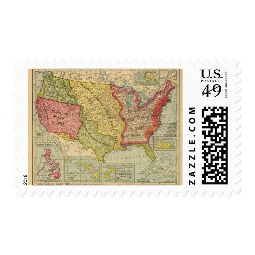 Los Estados Unidos de América, 1900 Timbre Postal