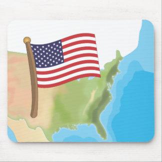 Los Estados Unidos de América Alfombrilla De Ratón
