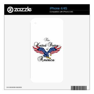 Los Estados Unidos de América Calcomanía Para El iPhone 4