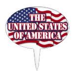 Los Estados Unidos de América con la bandera de lo Decoración De Tarta