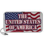 Los Estados Unidos de América con la bandera de lo Altavoces