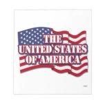 Los Estados Unidos de América con la bandera de lo Blocs De Notas