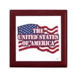 Los Estados Unidos de América con la bandera de lo Cajas De Recuerdo