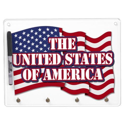 Los Estados Unidos de América con la bandera de lo Pizarras