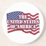 Los Estados Unidos de América con la bandera de lo Posavasos Cerveza