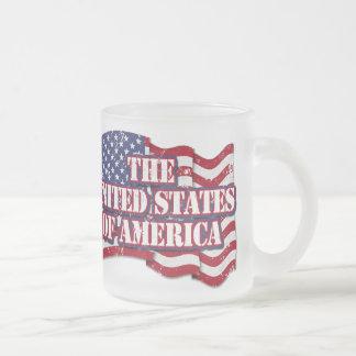 Los Estados Unidos de América con la bandera Taza De Café Esmerilada