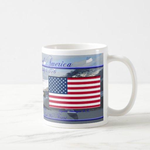 Los Estados Unidos de América conmemorativos Taza Básica Blanca