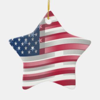 Los Estados Unidos de América Adorno De Cerámica En Forma De Estrella
