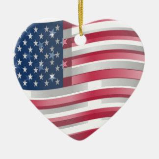 Los Estados Unidos de América Adorno De Cerámica En Forma De Corazón