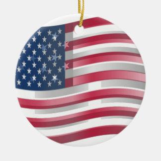Los Estados Unidos de América Adorno Redondo De Cerámica