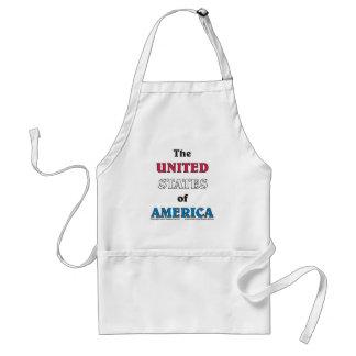 los Estados Unidos de América Delantal