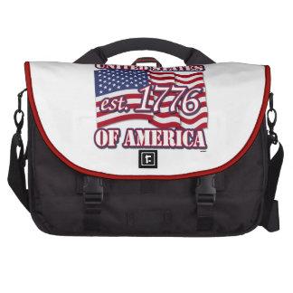 Los Estados Unidos de América est 1776 con la band Bolsas De Portatil