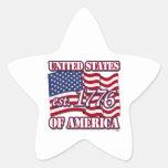 Los Estados Unidos de América est 1776 con la band Calcomanías Forma De Estrellaes