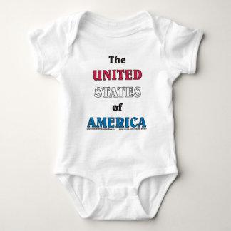 Los Estados Unidos de América Mameluco De Bebé