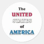 los Estados Unidos de América Pegatinas Redondas