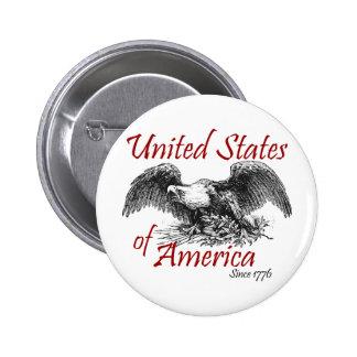 Los Estados Unidos de América Pin Redondo 5 Cm