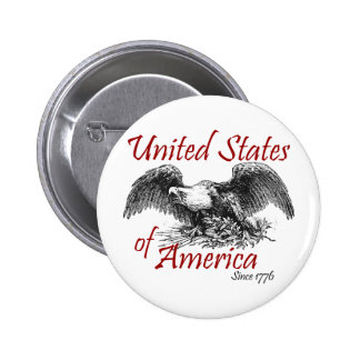Los Estados Unidos de América Pin Redondo De 2 Pulgadas