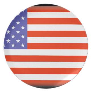 Los Estados Unidos de América Plato De Cena