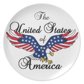 Los Estados Unidos de América Plato Para Fiesta