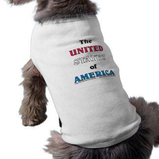 los Estados Unidos de América Playera Sin Mangas Para Perro