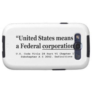 Los Estados Unidos significan una sociedad federal Galaxy SIII Protector
