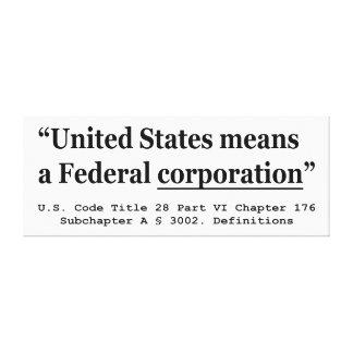 Los Estados Unidos significan una sociedad federal Impresión En Lienzo
