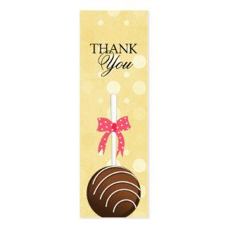 Los estallidos de la torta le agradecen marcan con tarjetas de visita mini