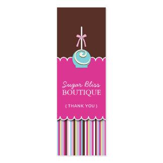 Los estallidos del azúcar le agradecen marcan con tarjetas de visita mini